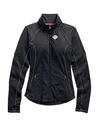 Harley-Davidson Womens Jacket, Bar & Shield Vented Performance, Black 99157-15VW