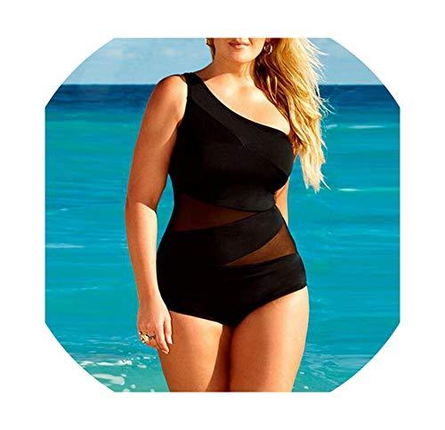 Super Sexy Swimwear Women One Piece Bikini Sets Black Lace Swimsuit High Waist Clothing Beachwear,Color1,XXL