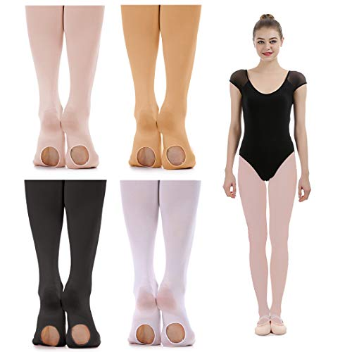 iMucci Velvet Convertible Ballet Dance Tights Pink Thin L