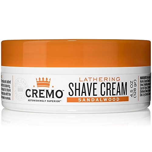 Cremo Lathering Shave Cream, Specially Formulated for Use With a Brush for  a Luxurious Shave, 4 5 Ounces