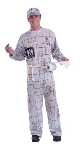 Forum Novelties Men's Bathroom Wall Guy Costume, Multi, One Size -