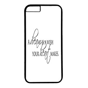 Iphone 6 case ,fashion durable black side design phone case, pc material phone cover ,with words picture.