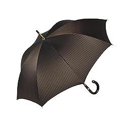 Shedrain Umbrellas Ombrelli Italian Stick Umbrella, Brownblue Pinstripe
