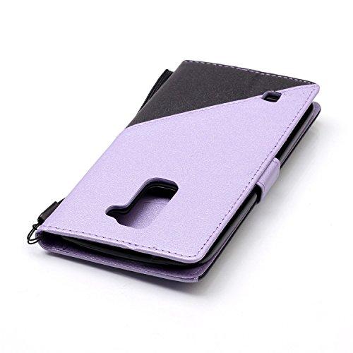 LG K7 Hülle Leder mit Magnet,LG K7 Hülle, LG K7 Leder Brieftasche Hülle Case,EMAXELERS LG K7 Flip Case Etui Ledertasche Schutzhülle,Kristall Bling Glitzer Schmetterling Muster LG K7 PU Leder Lederhüll E Triangle 5