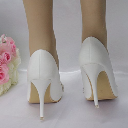 Heel EU Scarpe Donna Minitoo Tacco MinitooEU White 35 Col 10cm Bianco MZ8267 7PPwF1qzx