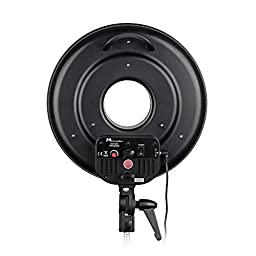 Fomito DVR-300DVC LED Ring Light 3000k-7000k Adjustable Color temperature Photography Led Video Ring Light with Camera Bracket
