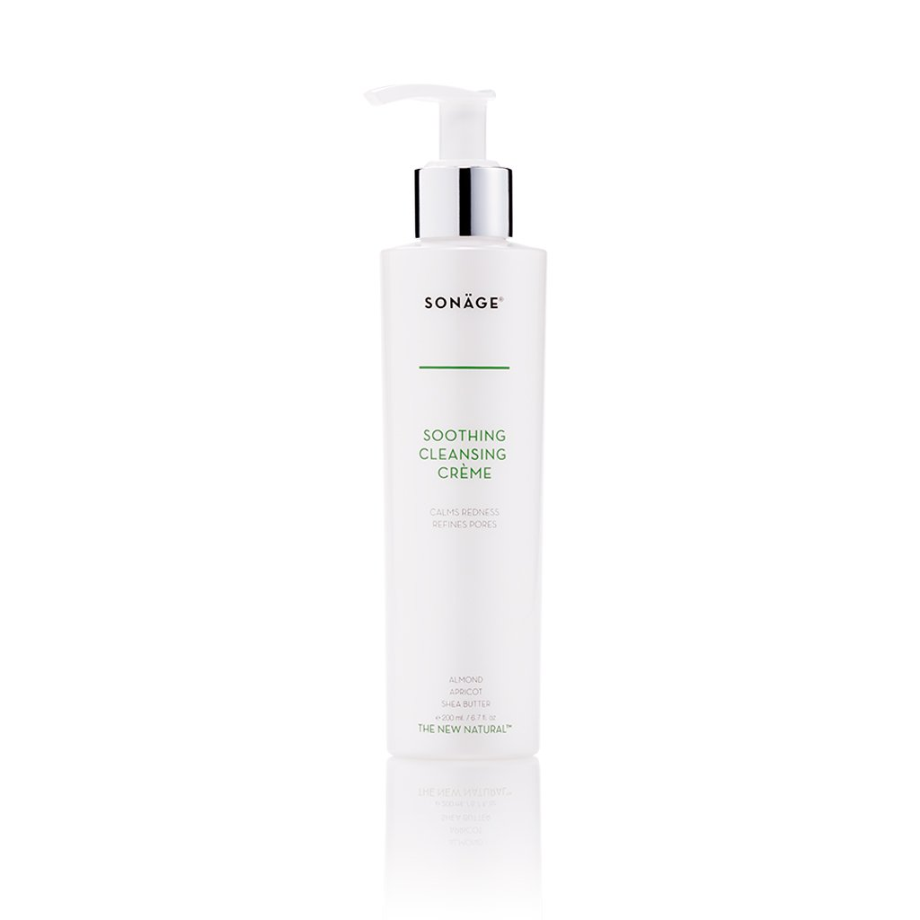 Sonage Soothing Cleansing Creme - Face Wash for Sensitive, Oily and Acne Prone Skin - Redness Relief Cream Facial Cleanser - Pore Tightener and Minimizer with Ylang Ylang and Matricaria