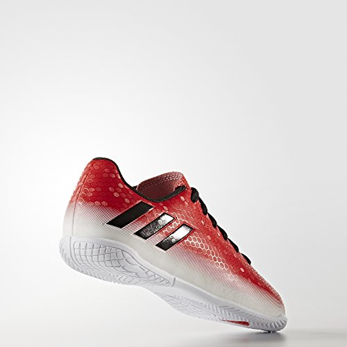 adidas Messi 16.4 In, Botas de Fútbol Unisex Niños, Rojo,Blanco red - black - white