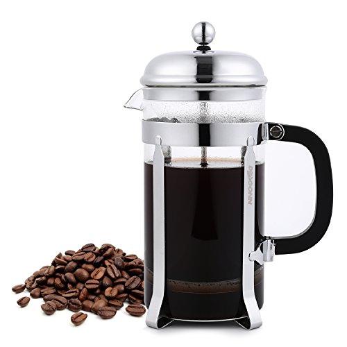 DRAGONN French Press Teepresse Kaffeebereiter für 8 Tassen schwarz 1.0L