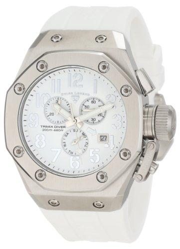 Swiss Legend Men's 10541-02-WA Trimix Diver Chronograph White Dial - Men Swiss Watches Legend