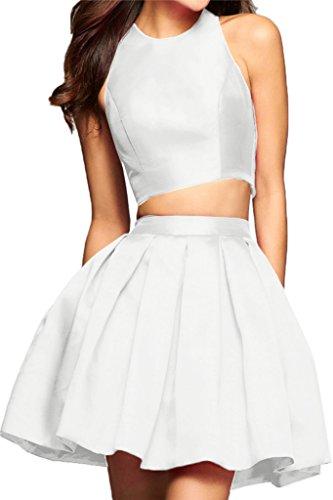 Missdressy -  Vestito  - plissettato - Donna bianco 40