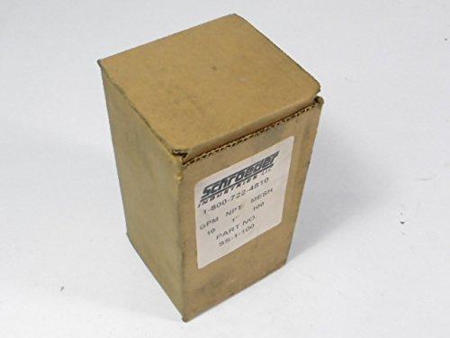 2 Schroeder Ss-1''-100 Filter Elements (U1) by Schroeder
