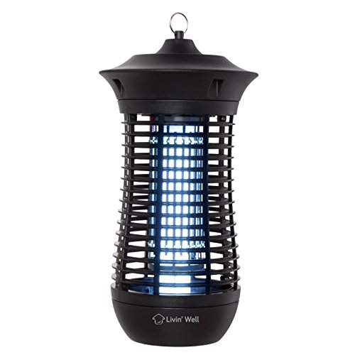 Bug Zapper for Mosquitos - Outdoor Mosquito Killer with UV Light - 18 Watt Electric Insect Repeller for Standing or Hanging – Extra Quiet and Made with ABS Fire Resistant Material