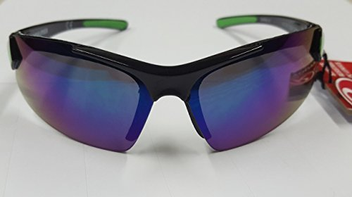 Rawlings Youth Sunglasses RY107 Black Green 100% UVA UVB Protection Shatter Resistant PC - Sunglasses Closeout