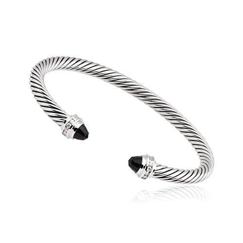 David Yurman Cable Classics Black Onyx & Diamonds Bracelet B04182SSABODI