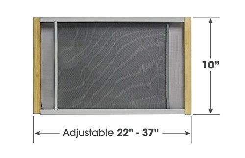 Expandable Window Screen - Adjustable Window Screen Built To Help Air Circulate Through Your Home, Adjusts Its Width Within a Range of 22