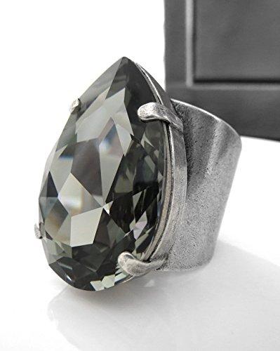 Antiqued Diamond Band - 1