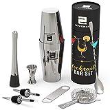 Best Bartender Kits - ZAPPOWARE Home Boston Cocktail Bar Shaker Set – Review