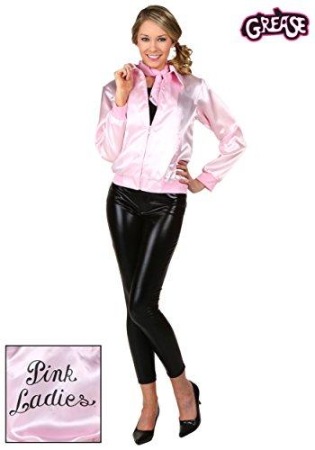 FunCostumes Plus Size Satin Ladies Pink Grease Movie Jacket - 3X -