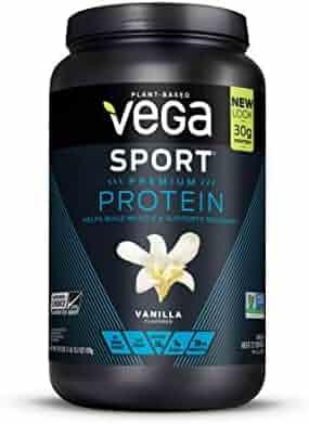 Vega Sport Premium Protein, Vanilla, 20 Servings, 29.2 Ounce (Pack of 1), Plant-Based Vegan Protein Powder, BCAAs, Amino Acid, tart cherry, Non Whey, Gluten Free, Non GMO (Packaging May Vary)