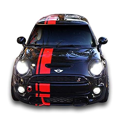 Bubbles Designs Front to Back Stripe Kit Decal Sticker Graphic Compatible with Mini Cooper S JCW D S3 SD