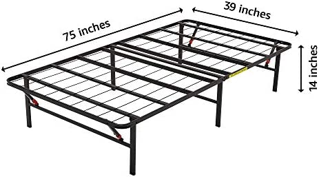 Amazon Basics Foldable, 14″ Metal Platform Bed Frame with Tool-Free Assembly, No Box Spring Needed – Twin 41sRtPfzTtL