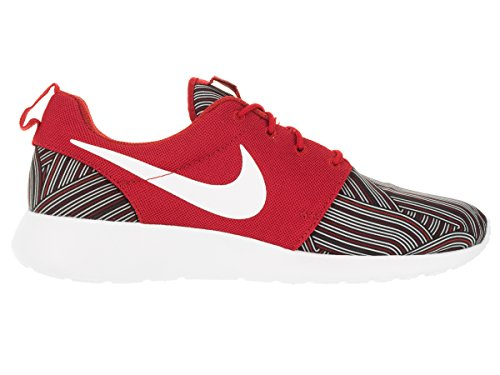 Nike Herren Roshe One Print Sneaker, Schwarz, Media Rosso (Unvrsty Red/White-Tm Rd-Gym Rd)