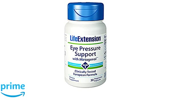 Life Extension Eye Pressure Support w/ Mirtogenol 120 Mg, 30 Vcaps: Amazon.es: Salud y cuidado personal