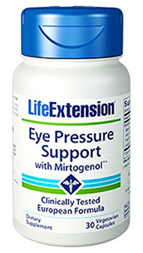 Life Extension Eye Pressure Support with Mirtogenol 120 Mg, 30 Vegetarian Capsules (Best Eye Supplements For Glaucoma)