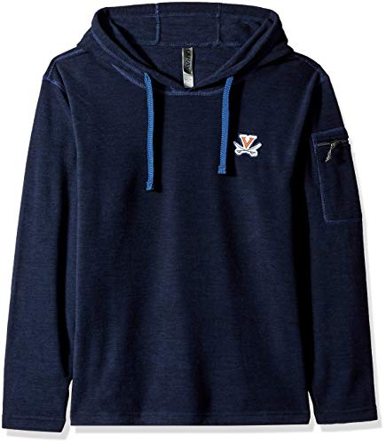 (Ouray Sportswear NCAA Virginia Cavaliers Men's Guide Hoodie, Midnight Navy Heather, Small)