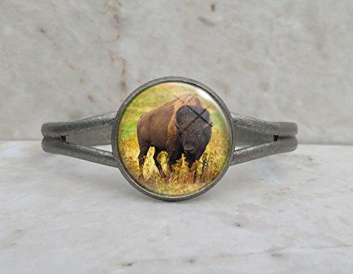 American Bison Buffalo Animal Cuff Bracelet