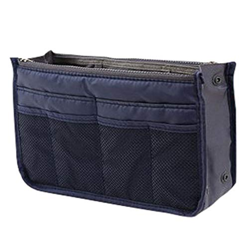 LiboboInsert Handbag Storage Bag Wallet Pad Manager Female Storage Bags Neat Travel (Navy)
