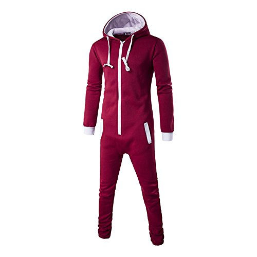Discount Sothread Mens Premium Adult Onesie Plain Hooded Sweater Blue Patchwork Jumpsuit Set supplier