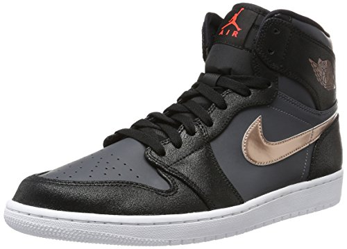 Jordan Air 1 Retro High Men Lifestyle Casual Sneakers New Black Bronze - 11.5 by Jordan