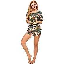 SHAAPRO Print Floral Pajamas Set Women Casual Night Shirt Pijama Homewear Multicolor Sexy Loose Sleepwear