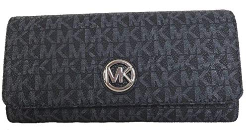 Michael Kors Fulton Flap Continental Wallet Clutch in Signature Admiral Navy