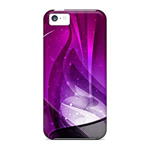Defender Cases With Nice Appearance (purple Swirls) For Iphone 5c