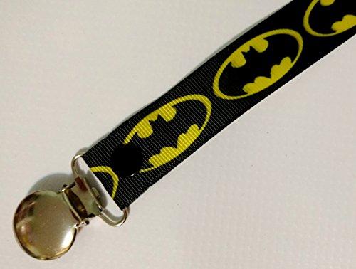 Batman pacifier clip binky soother strap -