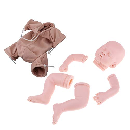 CUTICATE Large 20inch Reborn Kits with Suede Cloth Body, Full Silicone Baby Doll Mold That Look Real Girl Boy Toddler Infant