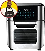 Cooking with SHAQ 7-in-1 Electric Hot Air Fryer Oven Pro, Convection, Toast, Rotisserie, Air Fry, Roaster, Bro