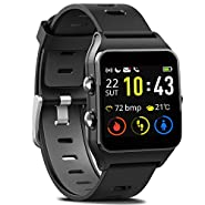 MorePro Smart Watch with 17 Sports Mode GPS Running Watches IP68 Swimming Waterproof Fitness Tracker, Heart Rate Monitor Sleep Trackers Pedometer for Women Men Compatible with iPhone & Android