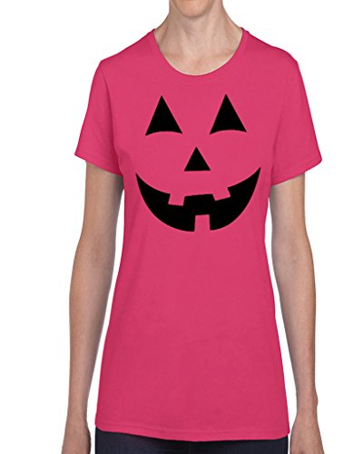 Hot Ass Womens Fitted Jack O' Lantern Pumpkin Holloween Costume Hot Pink (Hot Holloween Costumes)