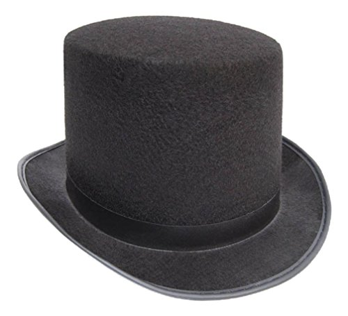 Cheap Top Hats (Black Top Hat  Felt Topper Slash SteamPUNK Victorian Charles Dickens)
