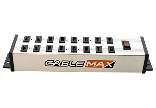 CableMAX CableMax 16 Port USB Heavy Duty Mountable Charging Power Strip by CABLEMAX (Image #2)