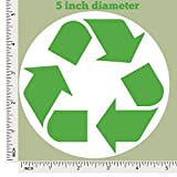 5 Pack Large Recycle Symbol Sticker for