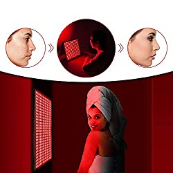 Red Light Therapy Lamp 300W Red 660nm Near Infrared 850nm for Skin and Pain Relief, Anti-Aging, Fat Loss, Muscle Performance, Hair Growth, Thyroid. Manual, Door Mount, Hanging Kit Included