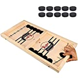Fast Sling Puck Game Paced,AmtBety Tinfence Table Desktop Battle Ice Hockey Game/Winner Board Games,Parent-Child Interactive Chess Toy for Adult and Kids -Small Size/15.2'' x 9.4''