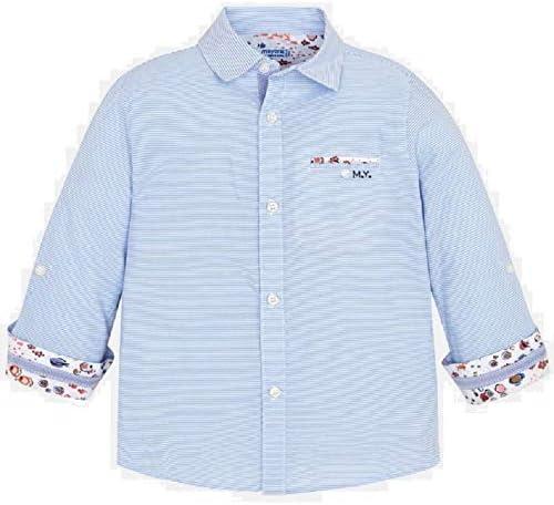 Mayoral Camisa Manga Larga Contrastes niño Modelo 3177: Amazon.es: Ropa y accesorios