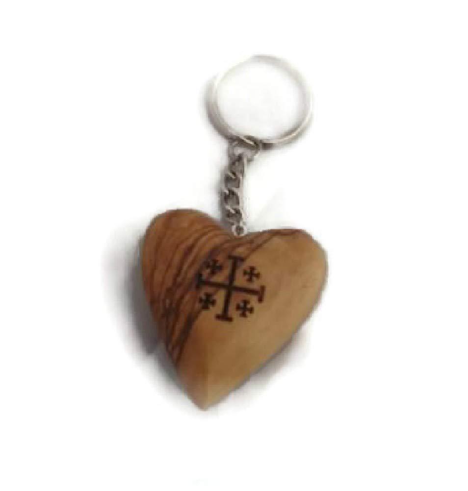 Amazon.com: Con forma de corazón con cruz de Jerusalén ...