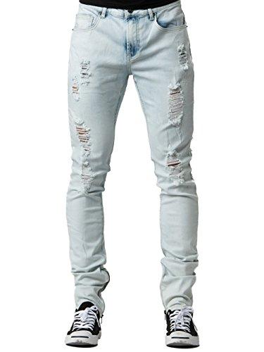 Young Reckless - Walker Tapered Jeans - Bleach Blue - 38 - Mens - Bottoms - Denim - Bleach - Walker Denim